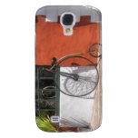 Penny-Farthing in Front of Bike Shop Samsung Galaxy S4 Covers