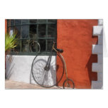 Penny-Farthing in Front of Bike Shop Greeting Card