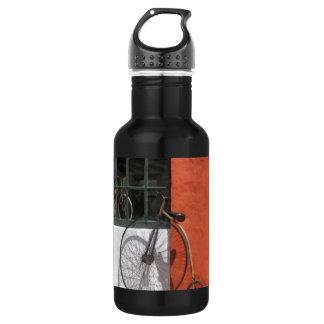 Penny-Farthing in Front of Bike Shop 18oz Water Bottle
