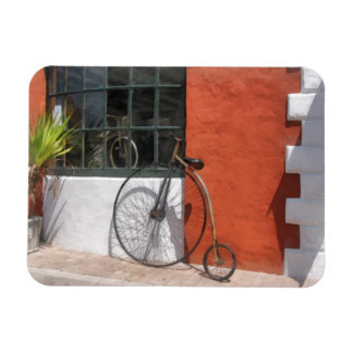Penny-Farthing in Front of Bike Shop Rectangular Photo Magnet