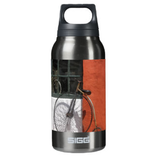 Penny-Farthing in Front of Bike Shop 10 Oz Insulated SIGG Thermos Water Bottle