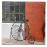 Penny-Farthing in Front of Bike Shop Tile