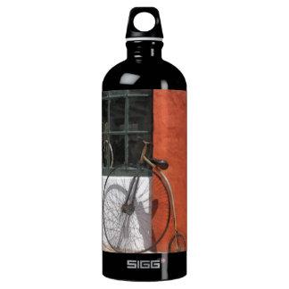 Penny-Farthing in Front of Bike Shop Water Bottle