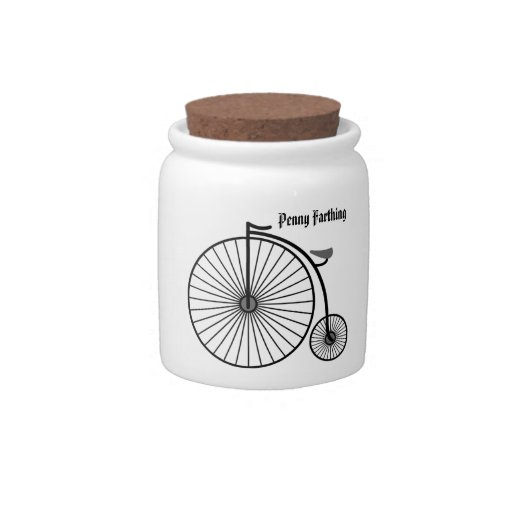 Penny Farthing Jar Candy Jar
