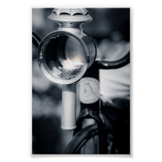 Penny Farthing Lit  Head Lamp Poster
