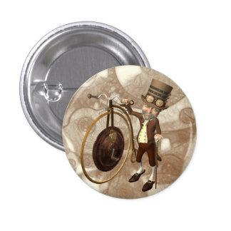 Penny Farthing Steampunk Pinback Button