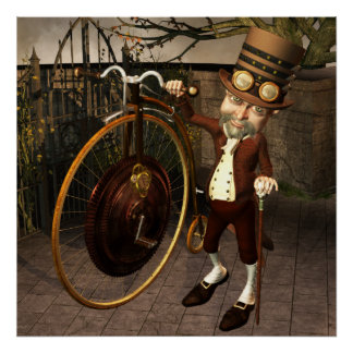 Penny Farthing Steampunk Print