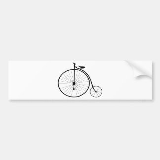 Penny Farthing Victorian Era Bicycle Bumper Sticker