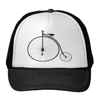 Penny Farthing Victorian Era Bicycle Trucker Hat