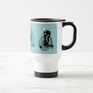 Penny Farthing Vintage Bicycle Art Travel Mug