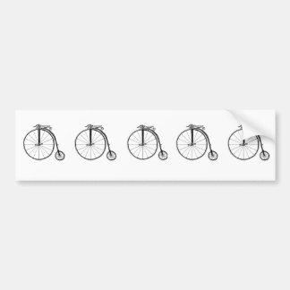 Penny Farthing Vintage Bicycle Illustration Bumper Sticker
