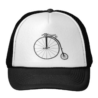 Penny Farthing Vintage Bicycle Illustration Trucker Hat