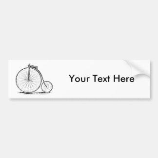 Penny Farthing Vintage High-Wheel Bicycle Car Bumper Sticker