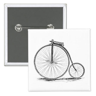 Penny Farthing Vintage High-Wheel Bicycle Buttons