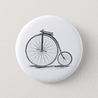 Penny Farthing Vintage High-Wheel Bicycle Button
