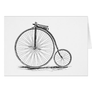 Penny Farthing Vintage High-Wheel Bicycle Card