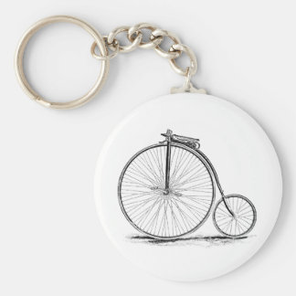 Penny Farthing Vintage High-Wheel Bicycle Keychain