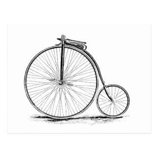 Penny Farthing Vintage High-Wheel Bicycle Postcard