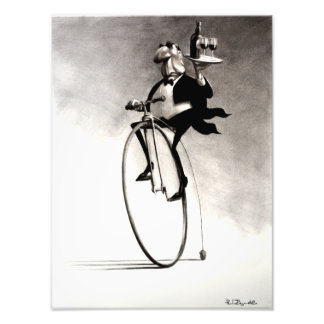 Penny Farthing Wine Waiter Photo Print