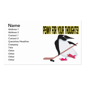Penny For Your Thoughts Double-Sided Standard Business Cards (Pack Of 100)