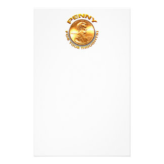 Penny for your thoughts! stationery