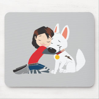 Penny Hugging BOLT Disney Mouse Pad