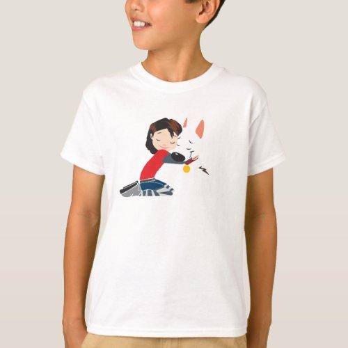 Penny Hugging BOLT Disney T_Shirt