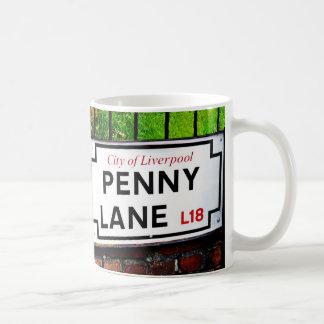 penny lane Liverpool England sign Mugs