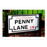 penny lane Liverpool England sign Post Card
