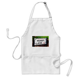 Penny Lane sign from the city of Liverpool England Adult Apron