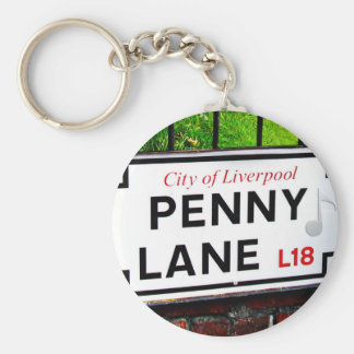 Penny Lane sign from the city of Liverpool England Keychain