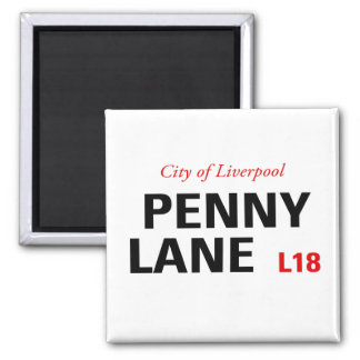 Penny Lane Sign Fridge Magnets