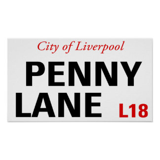 Penny Lane Sign Posters