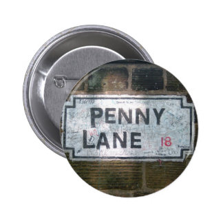 Penny Lane Street Sign Button
