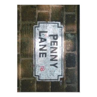 Penny Lane Street Sign 13 Cm X 18 Cm Invitation Card