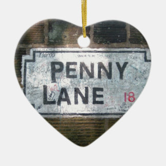Penny Lane Street Sign, Liverpool UK Ceramic Ornament