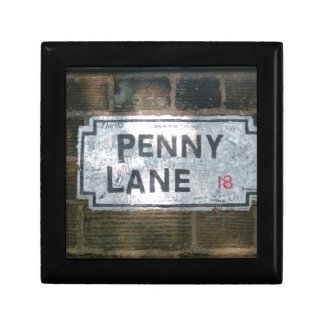 Penny Lane Street Sign, Liverpool UK Jewelry Box