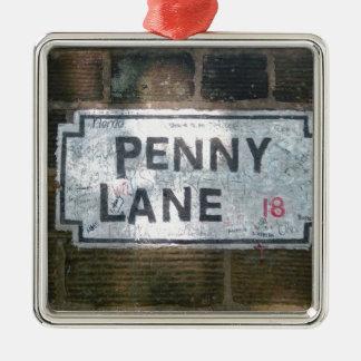 Penny Lane Street Sign, Liverpool UK Metal Ornament