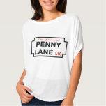 Penny Lane, Street Sign, Liverpool, UK T-Shirt
