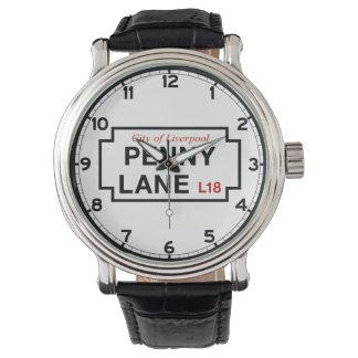Penny Lane, Street Sign, Liverpool, UK Wrist Watches