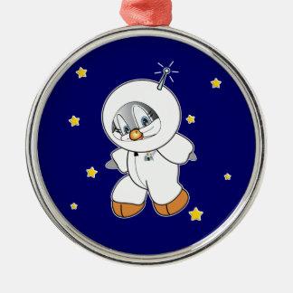 Penny Penguin Astronaut Metal Ornament