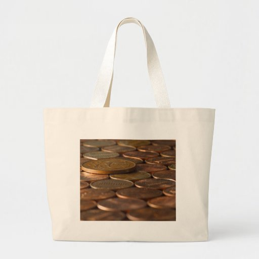 Penny Pennies Coins Money Jumbo Tote Bag