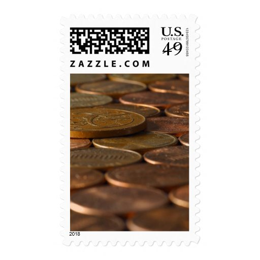 Penny Pennies Coins Money Postage Stamp