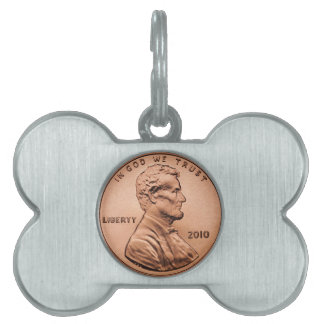 Penny Pet Name Tag