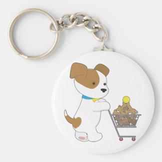 Penny PoppyLove Cute Puppy Basic Round Button Keychain