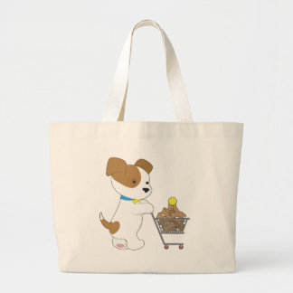 Penny PoppyLove Cute Puppy Large Tote Bag