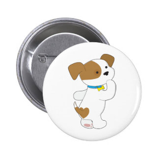 Penny PoppyLove Cute Puppy Pinback Button