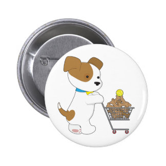Penny PoppyLove Cute Puppy Pinback Buttons