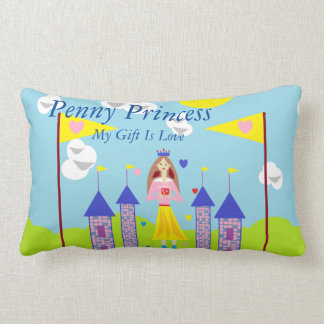 Penny Princess My Gift Is Love Throw Pillow