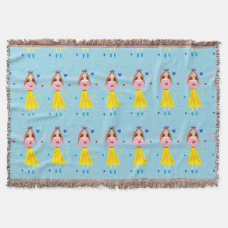 Penny Princess Throw Blanket